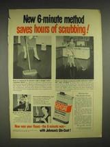 1951 Johnson's Glo-Coat Wax Ad - Saves Scrubbing - $14.99