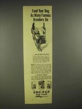 1946 Kellogg's Gro-Pup Dog Food Ad - Great Dane - $14.99