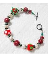 Glass Bead & Cultured Pearls Bracelet with Toggle Catch - $8.95