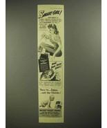 1942 Kleenex Tissues, Delsey Toilet Paper Ad - Girl - $14.99