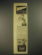 1941 Clorox Bleach Ad - Drainboards - $14.99