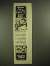 1940 Clorox Bleach Ad - Treasured Linens - $14.99
