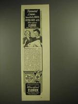 1940 Clorox Bleach Ad - Treasured Linens - $14.99