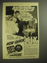 1940 Lux Detergent Ad - Didn't Have Good Time at Party - $14.99