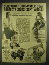 1940 Ivory Snow Detergent Ad - Protects Silks, Wools - $14.99
