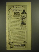 1940 Clorox Bleach Ad - Modern Housekeeping - $14.99