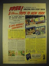 1941 Ivory Snow Detergent Ad - Trips to New York - $14.99