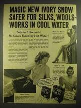 1940 Ivory Snow Detergent Ad - Safer for Silks, Wools - $14.99
