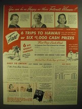 1940 Ivory Snow Detergent Ad - Happy as These Winners - $14.99
