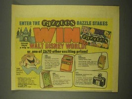 1975 Razzles Gum Ad - Walt Disney World - $14.99