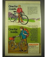 1973 Raleigh Record 24, Sprite Bicycle Ad - For Roads - $14.99