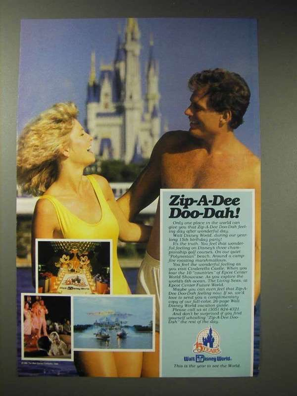 1987 Walt Disney World Ad - Zip-A-Dee Doo-Dah!
