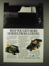 1987 John Deere 180, SX75 Lawn Tractor Ad - More Horses - $14.99