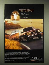 1997 GMC Yukon Ad - Victorious Behind the Wheel - $14.99