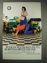 1988 John Deere Lawn Tractor Ad - Pick the Right One - $14.99