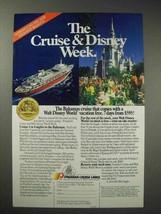 1989 Premier Cruise Lines Ad - Disney Week - $14.99