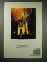 1989 American Express Card Ad - Disney Magic Kingdom - $14.99