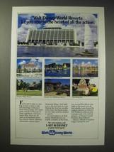 1990 Walt Disney World Resorts Ad - Contemporary - $14.99