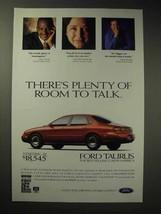 1997 Ford Taurus LX Car Ad - Room to Talk - $14.99