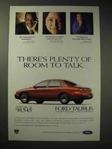 1997 Ford Taurus LX Car Ad - Plenty of Room to Talk - $14.99