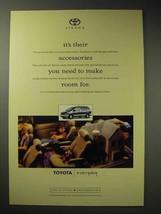 1998 Toyota Sienna Minivan Ad - Their Accessories - $14.99