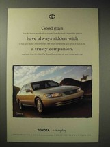 1998 Toyota Camry Car Ad - With a Trusty Companion - $14.99