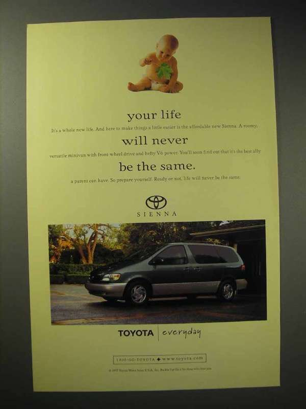 1998 Toyota Sienna Minivan Ad - Life Never be the Same