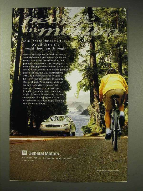 1998 General Motors Car Ad - People in Motion