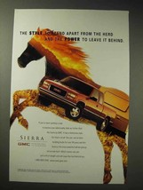 1998 GMC Sierra Truck Ad - Stand Apart From the Herd - $14.99