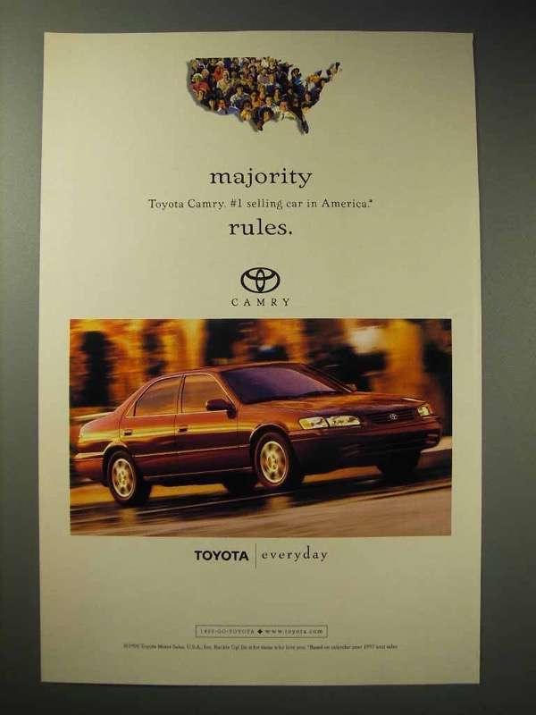 Primary image for 1998 Toyota Camry Car Ad - Majority Rules