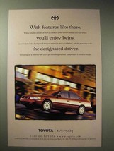 1998 Toyota Camry Car Ad, Enjoy Being Designated Driver - $14.99