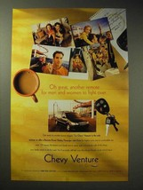 1998 Chevy Venture Ad - Another Remote to Fight Over - $14.99