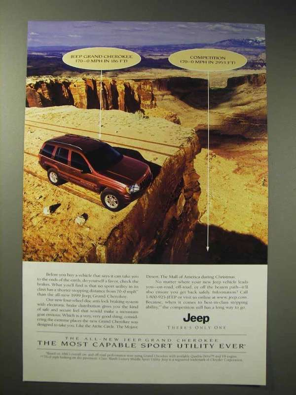 1999 Jeep Grand Cherokee Ad - 70-0MPH in 186 Ft