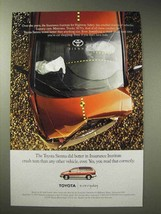 1998 Toyota Sienna Minivan Ad - Better in Crash Tests - $14.99