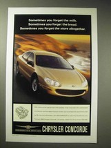 1999 Chrysler Concorde Lxi Car Ad - $14.99