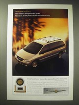 1998 Chrysler Town & Country Minivan Ad - Quiet - $14.99