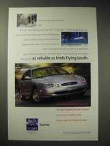 1998 Ford Taurus Car Ad, Reliable as Birds Flying South - $14.99