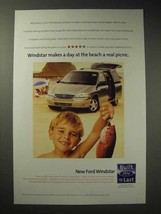 1998 Ford Windstar Minivan Ad - A Day at The Beach - $14.99