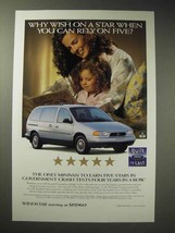 1998 Ford Windstar LX Minivan Ad - Wish On a Star - $14.99
