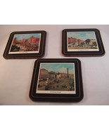 Set of 6 IRISH Coasters Vintage Labeled Scenes of Dublin Corked Backs 4 ... - $17.00