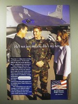 2001 Today's Military Ad - Not Just Son, He's my Hero - $14.99