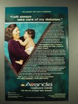2001 GlaxoSmithKline Avandia Ad - Take Care of Diabetes - $14.99