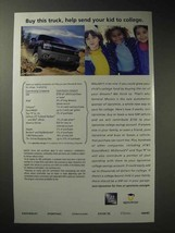 2001 GM Truck Ad - Send Your Kid to College - $14.99