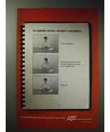 2003 AARP Ad - To Ensure Social Security Solvency - $14.99