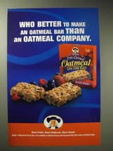 2004 Quaker Oatmeal on the Go Mixed Berry Ad - $14.99