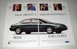 1997 Ford Taurus LX Car Ad - A Safe Investment - $14.99