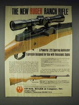 1984 Ruger .223 Caliber Ranch Rifle Gun Ad - $14.99