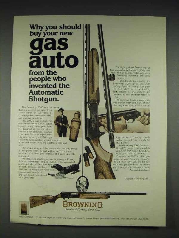 1977 Browning 2000 Gas Auto Shotgun Ad