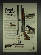 1977 Browning A-5 Shotgun Ad - Proof Tested - $14.99
