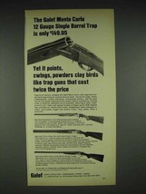 1970 Galef Monte Carlo 12 Gauge Single Barrel Trap Ad - $14.99